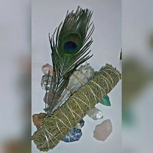 White Sage & Juniper Smudge w/Feather